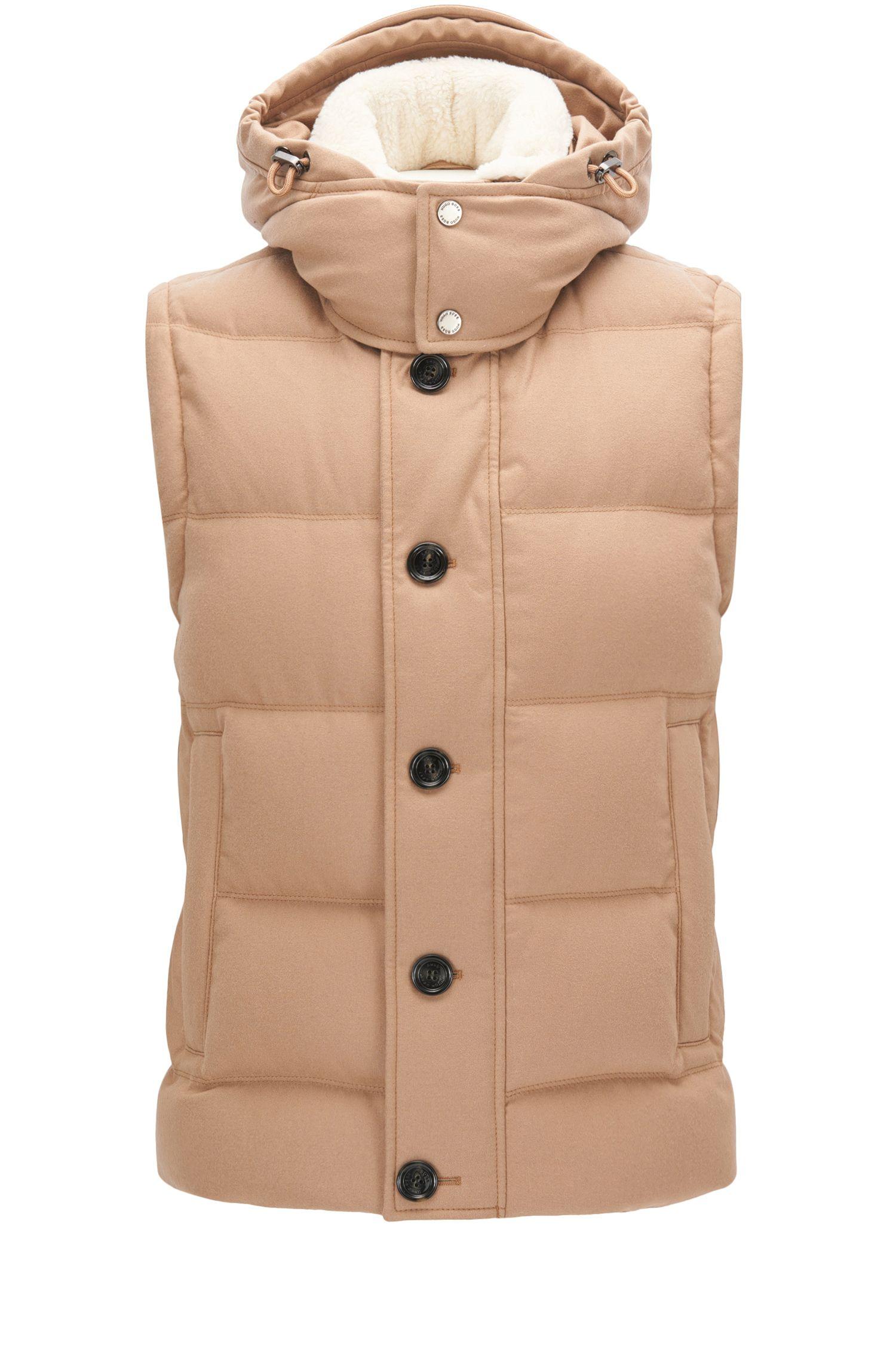 Virgin Wool Cashmere Blend Puffer Vest | T-Denis
