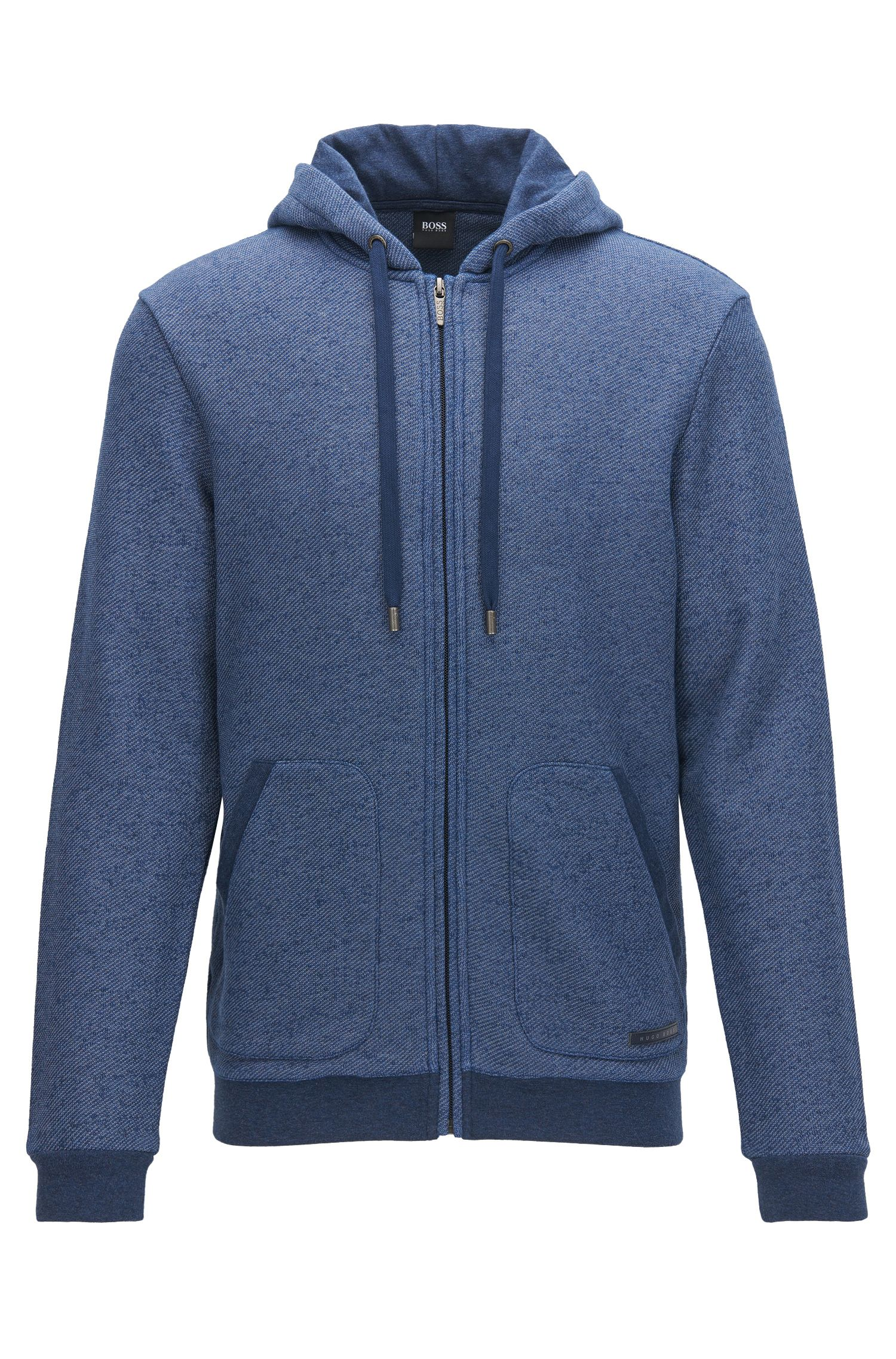 French Terry Hooded Sweatshirt | Jacket Hooded