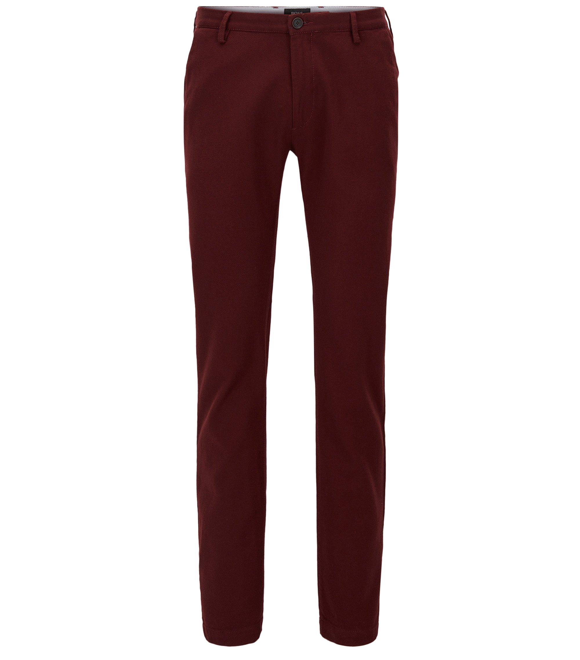Stretch Cotton Chino Pant, Slim Fit | Rice W, Dark Red
