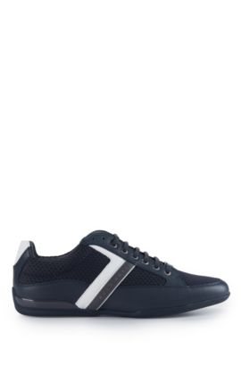 Mesh Leather Sneaker | Space Lowp Nyme, Dark Blue