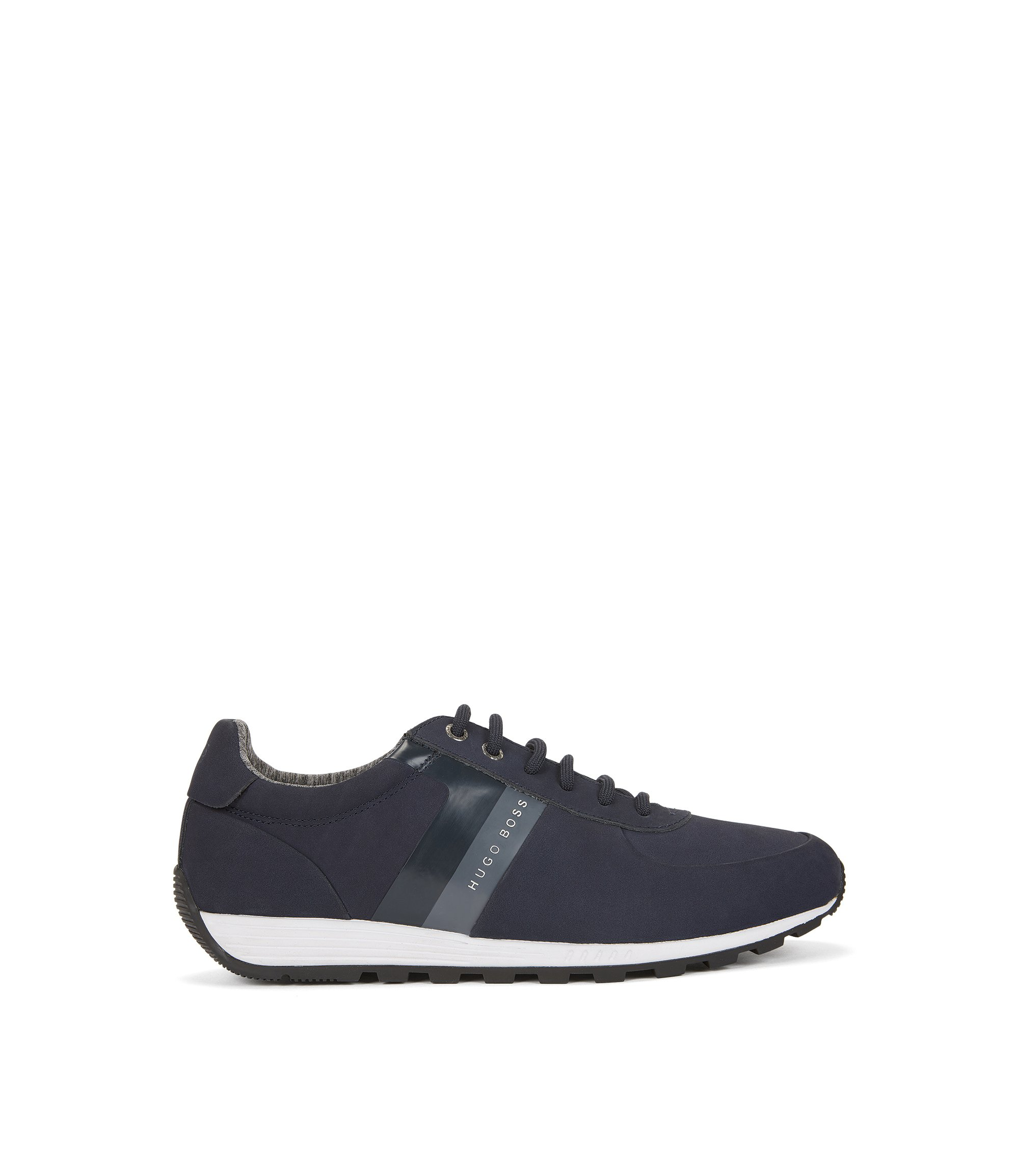 Leather Sneaker | Blast Runn Nust, Dark Blue