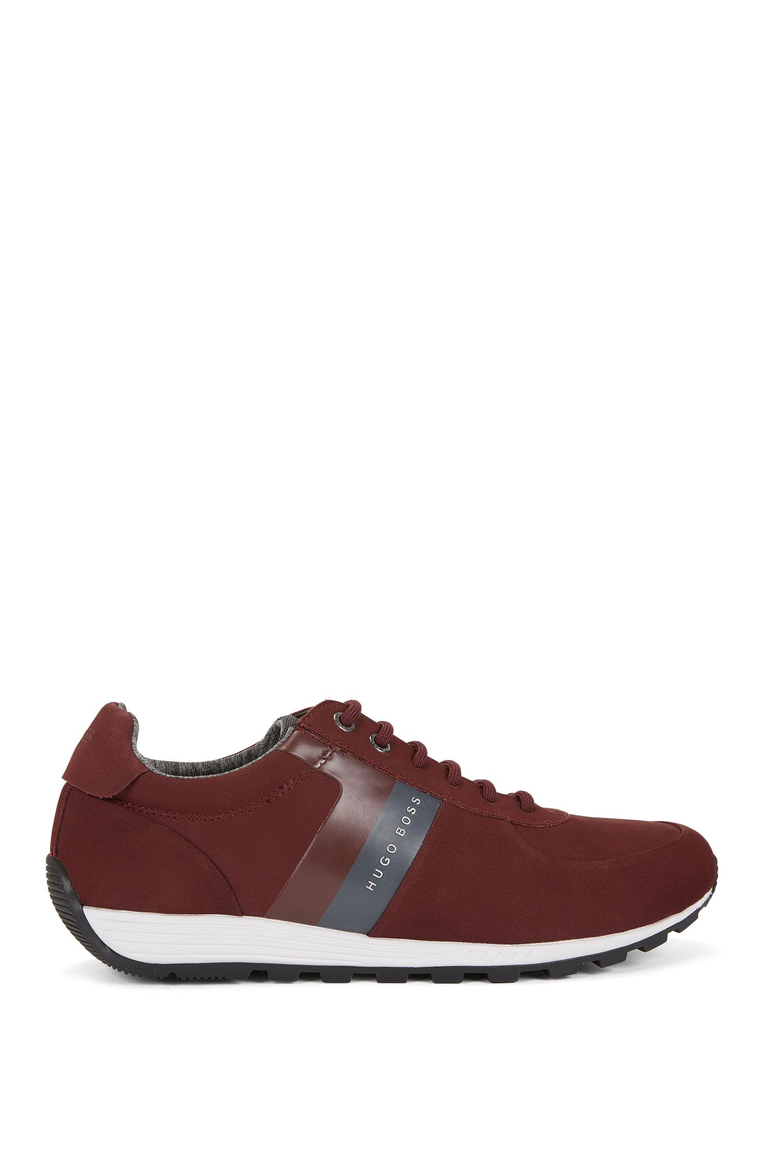 Leather Sneaker | Blast Runn Nust, Dark Red