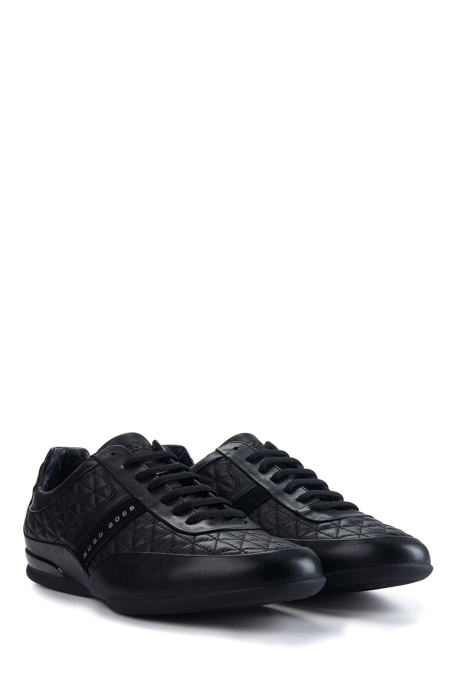 Quilted Leather Sneaker | Space Lowp Nyme, Black