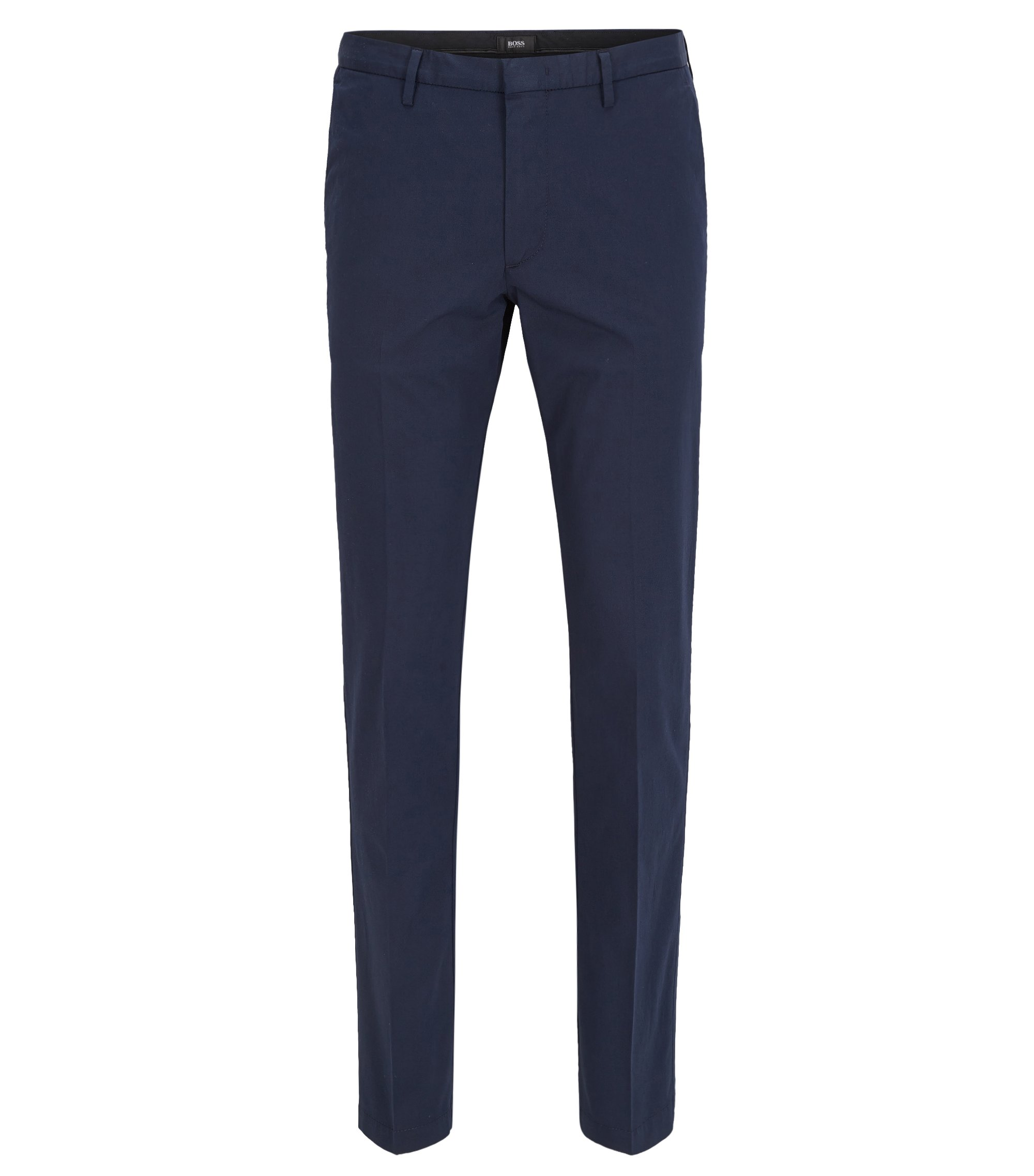 Italian Stretch Cotton Pant, Slim Fit | Kaito Travel W, Dark Blue