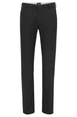 Virgin Wool Blend Pant, Slim Fit | Rice W, Black