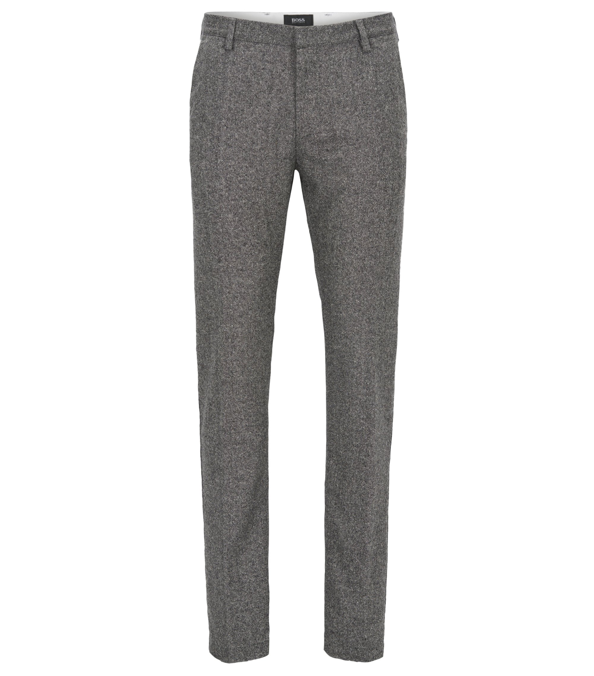 Virgin Wool Blend Pant, Slim Fit | Rice W, Open Grey