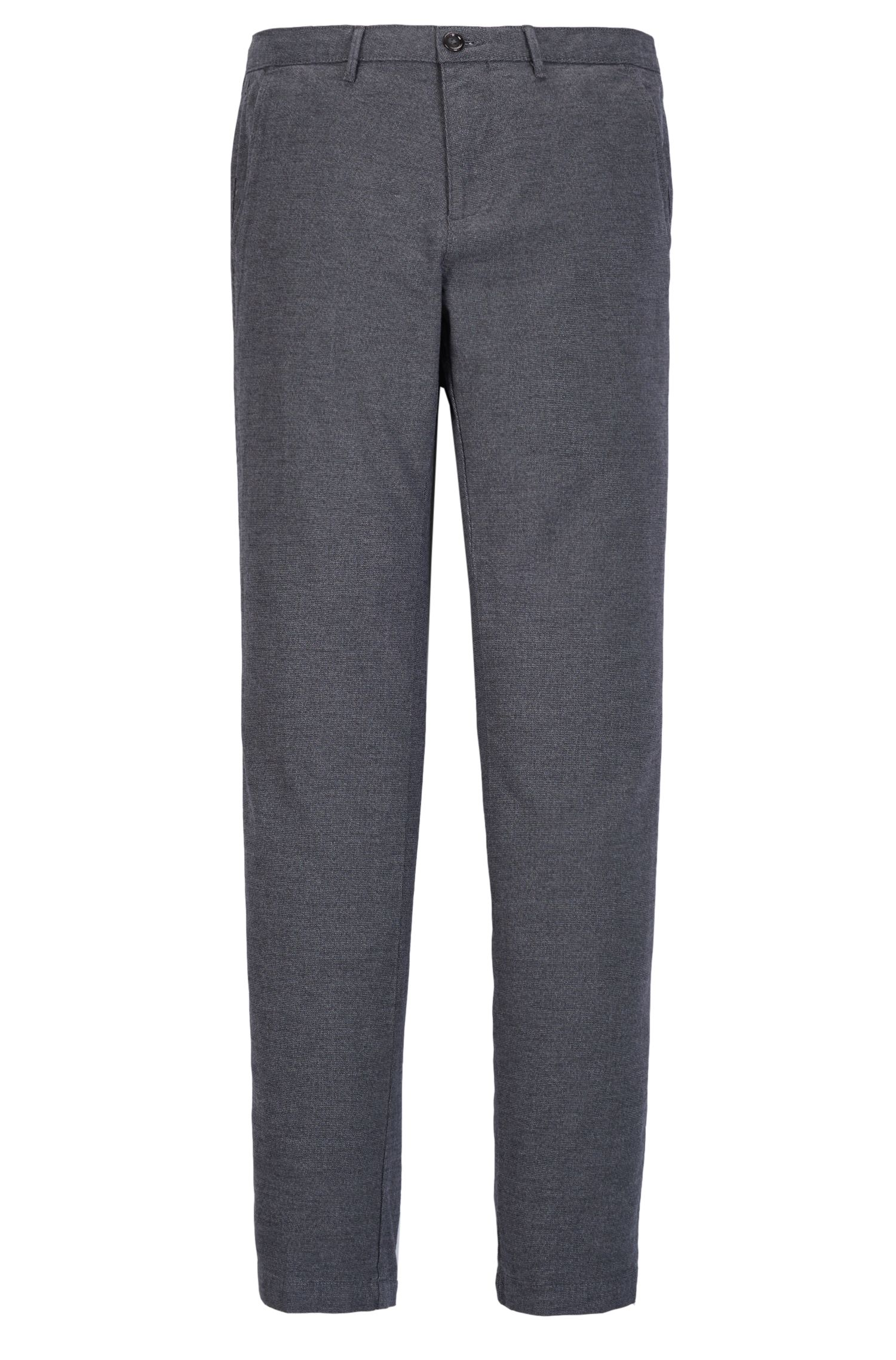 Patterned Stretch Cotton Pant, Regular Fit | Crigan W