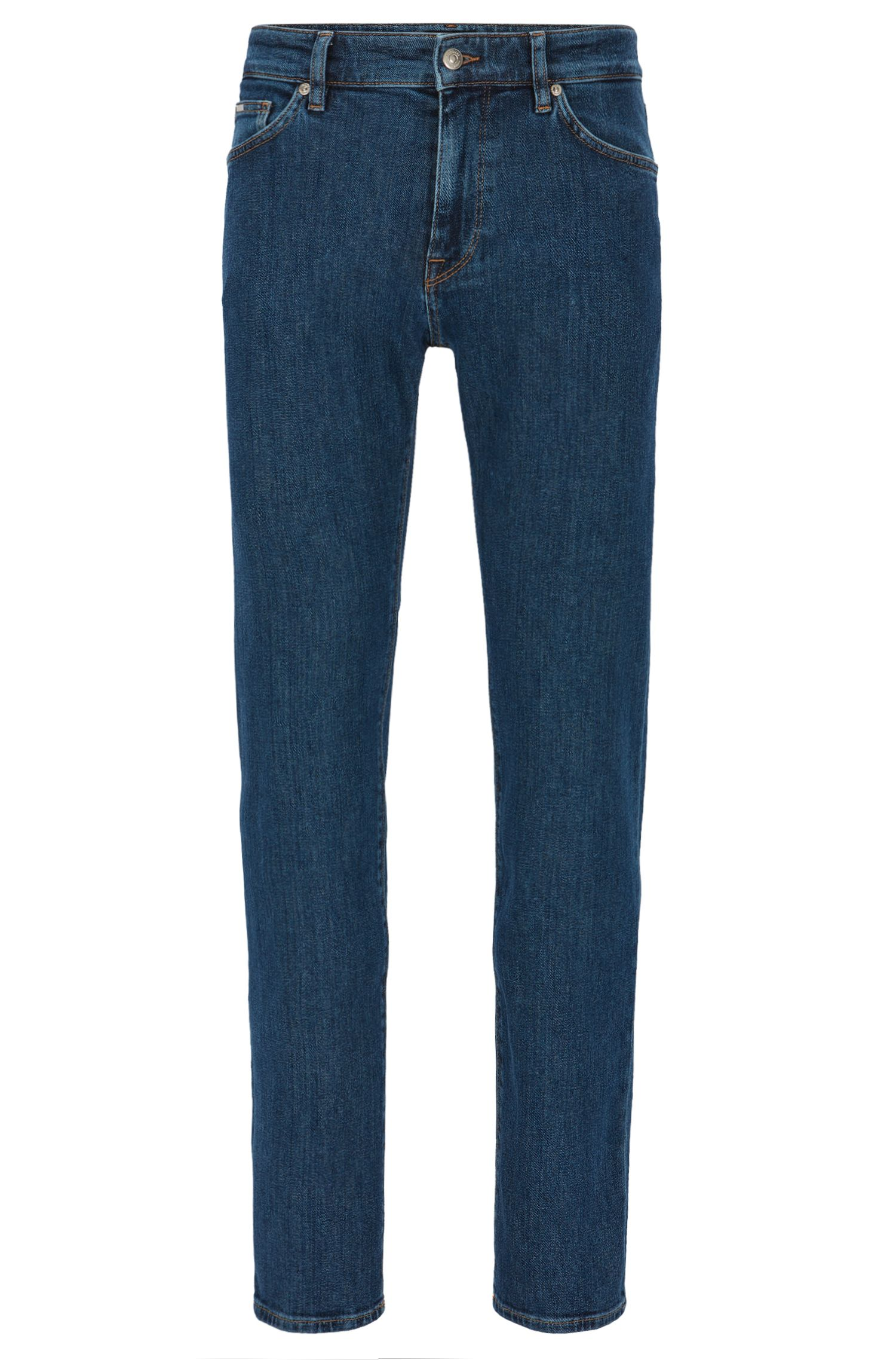 Stretch Cotton Jeans, Regular Fit | Maine