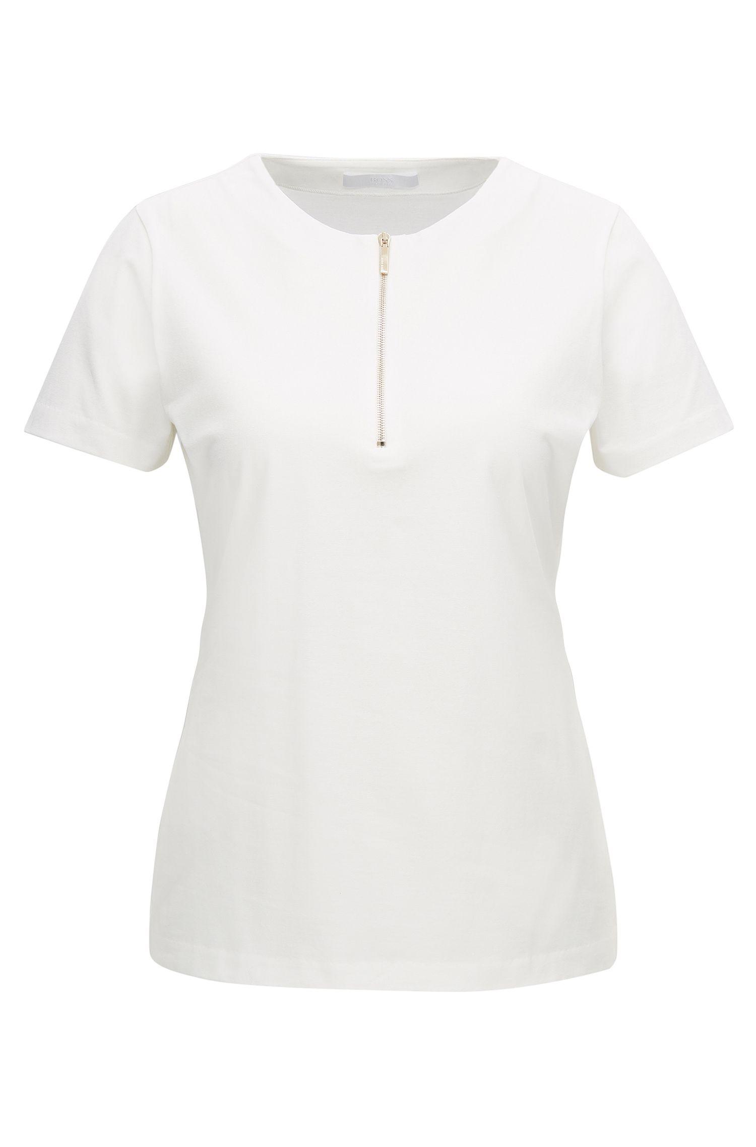 Stretch Cotton Jersey Top | Ezipa