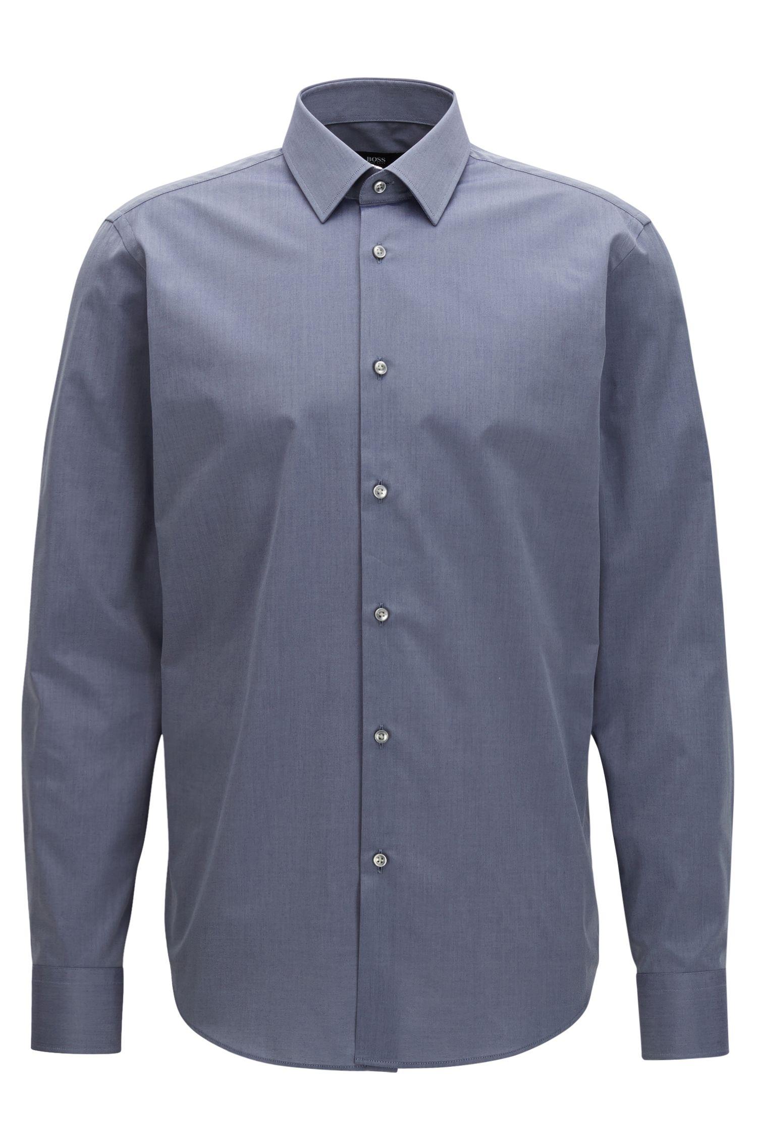 Chambray Cotton Dress Shirt, Regular Fit | Enzo