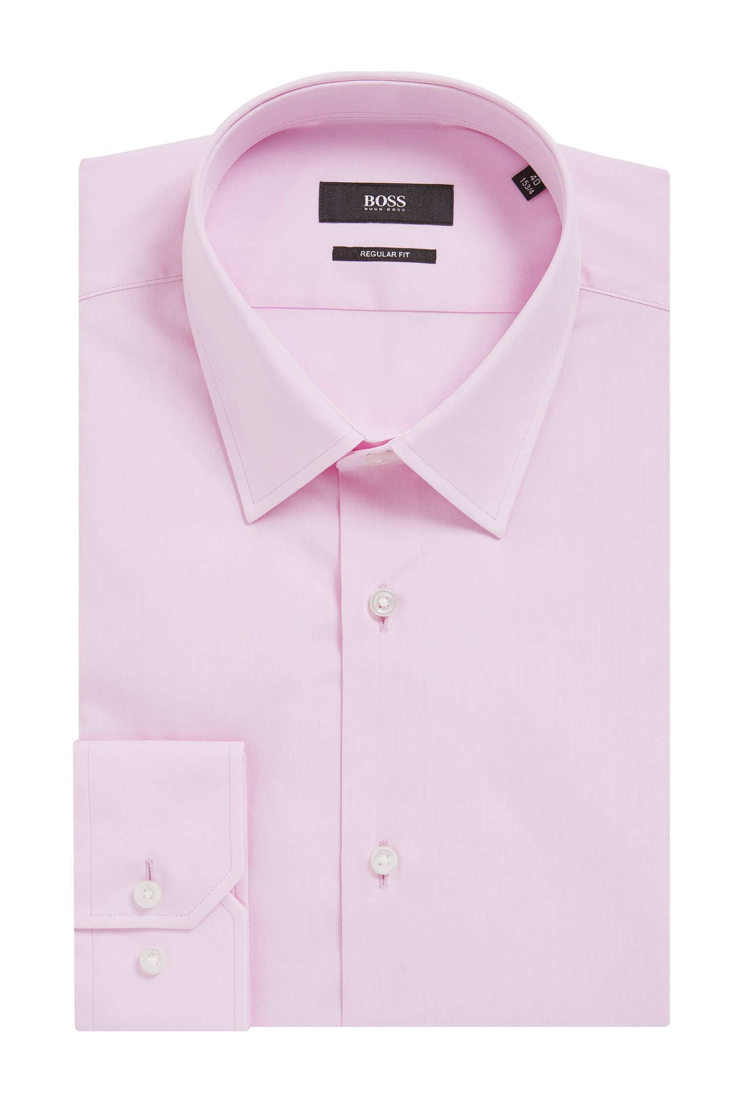 Chambray Cotton Dress Shirt, Regular Fit   Enzo