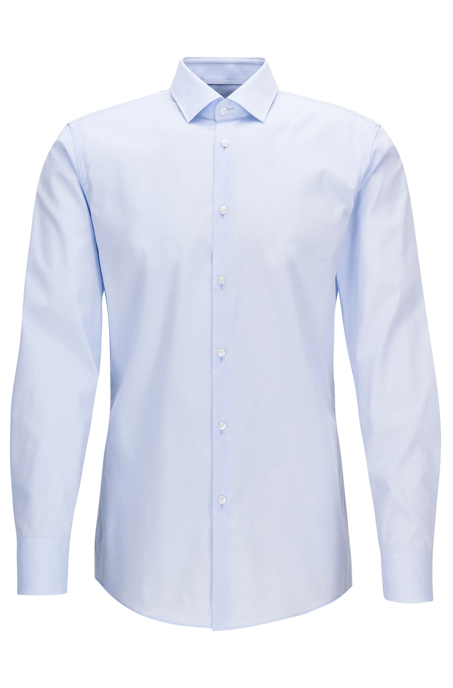 Two-Ply Cotton Dress Shirt, Slim Fit | Jenno
