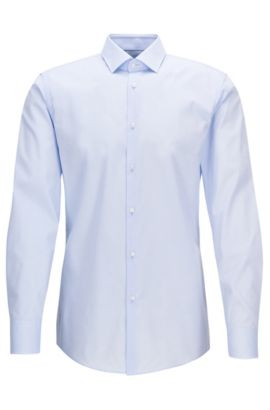 Two-Ply Cotton Dress Shirt, Slim Fit | Jenno, Light Blue