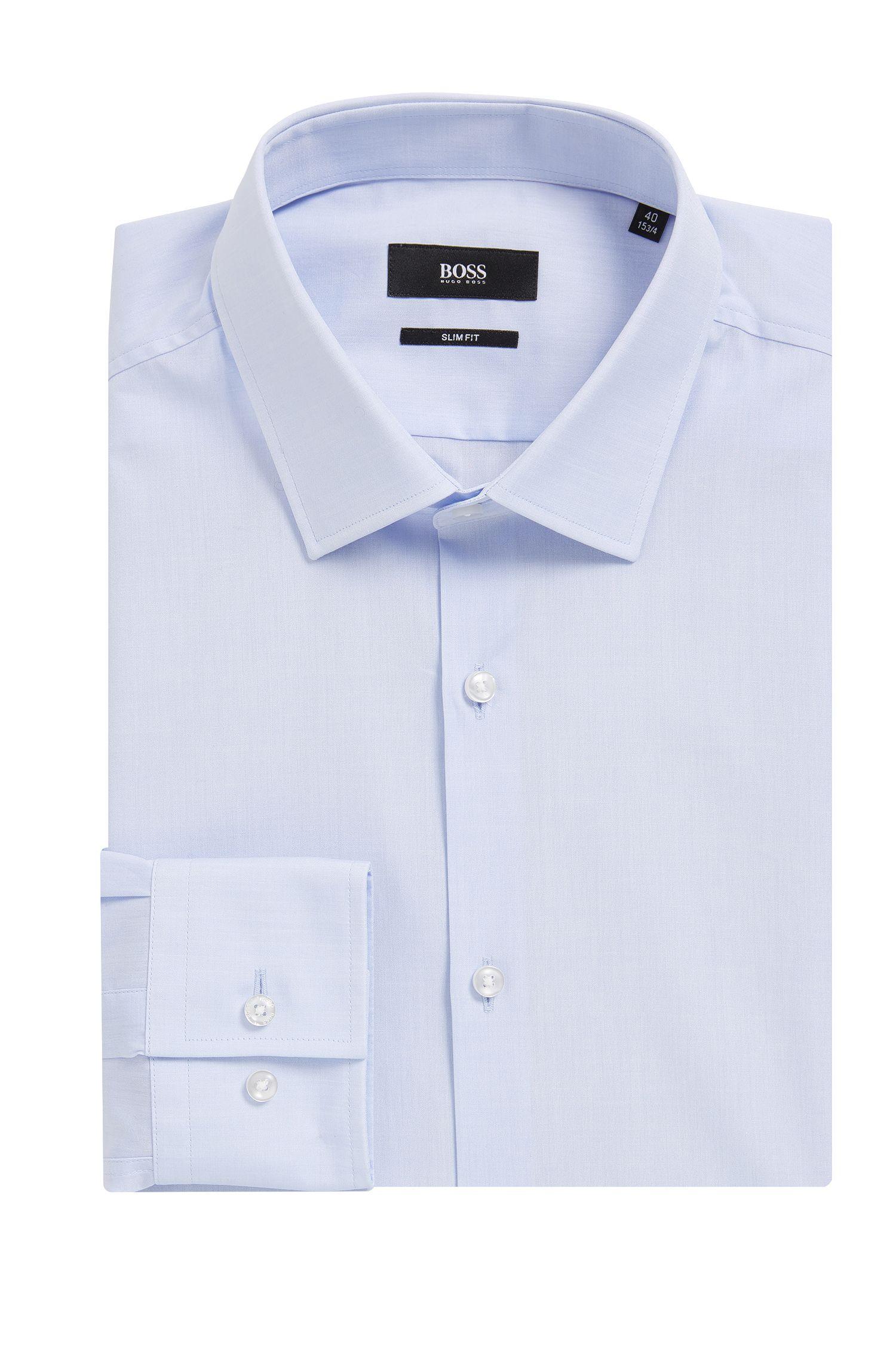 Two-Ply Cotton Dress Shirt, Slim Fit | Jenno