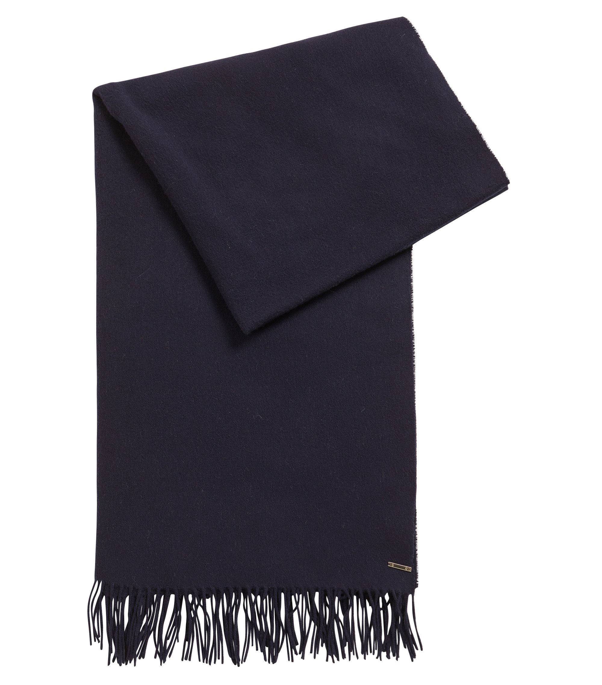 Virgin Wool-Cashmere Scarf | Lasandra, Open Blue
