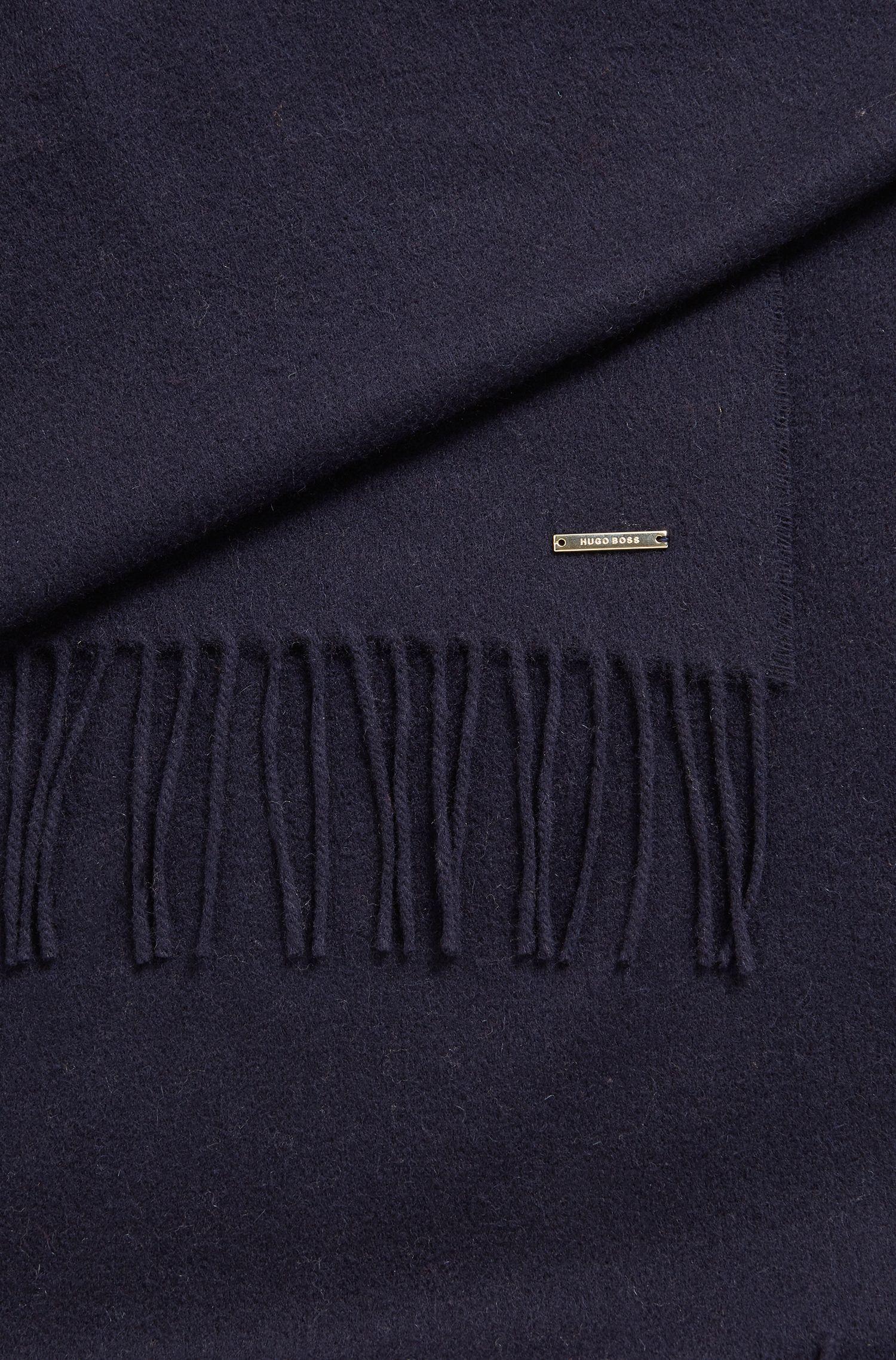 Virgin Wool-Cashmere Scarf | Lasandra, Open Blue
