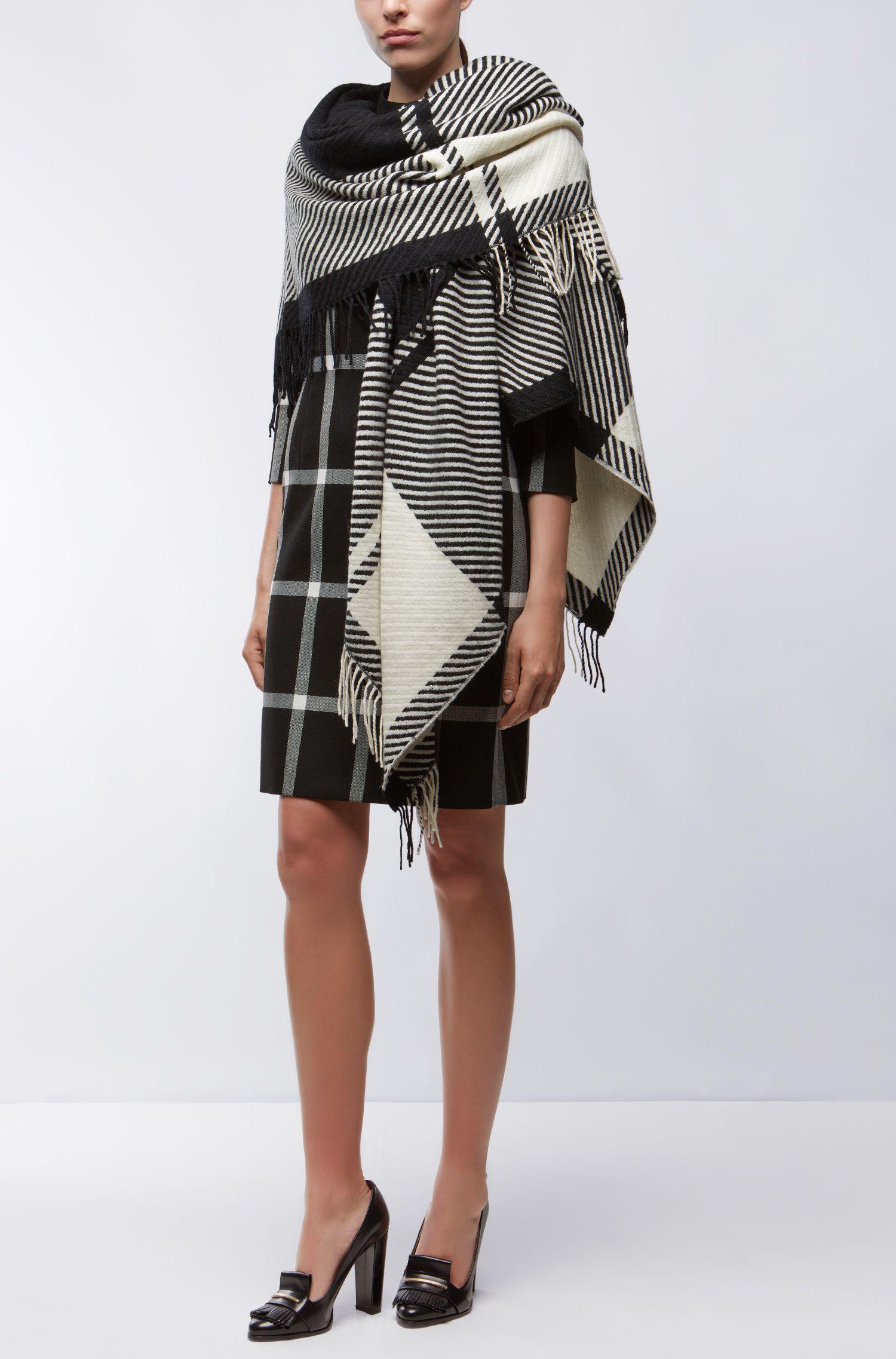 Plaid Virgin Wool-Cashmere Shawl   Lamiky