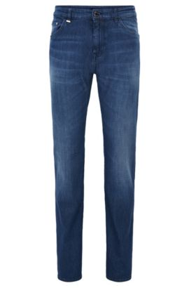 'Maine' | Regular Fit, 10 oz Stretch Cotton Jeans, Blue
