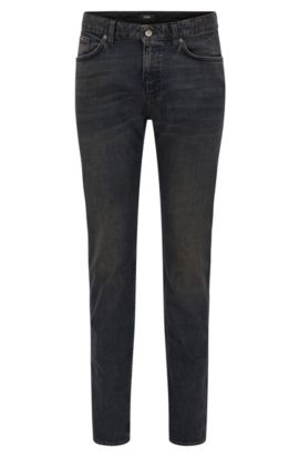 'Delaware' | Slim Fit, 12 oz Stretch Cotton Jeans, Dark Brown