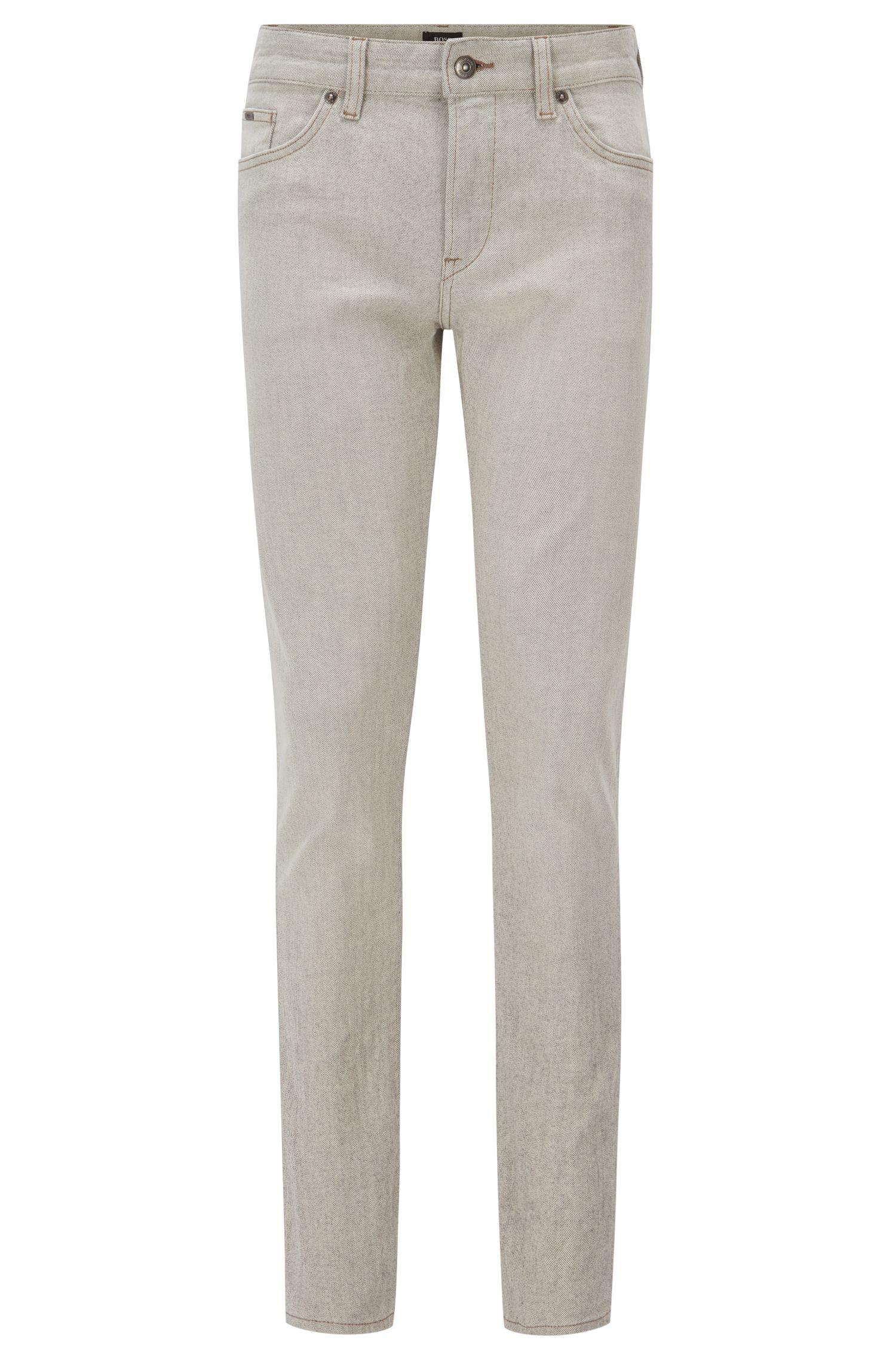 10.7 oz Italian Stetch Cotton Jeans, Slim Fit | Delaware