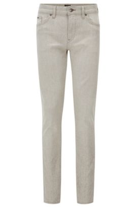 10.7 oz Italian Stetch Cotton Jeans, Slim Fit | Delaware, Natural