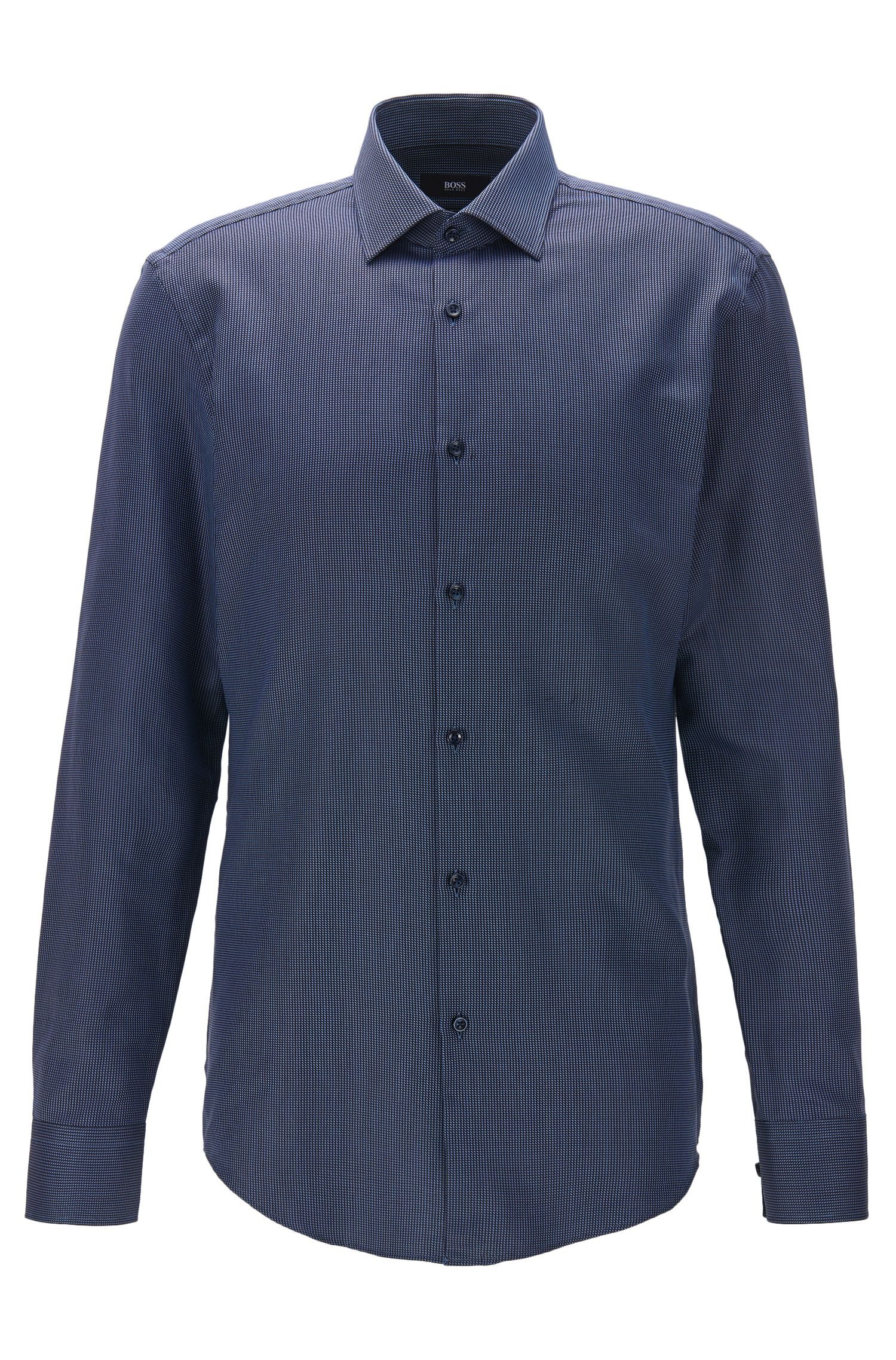 Geometric Print Cotton Dress Shirt, Slim Fit | Jenno