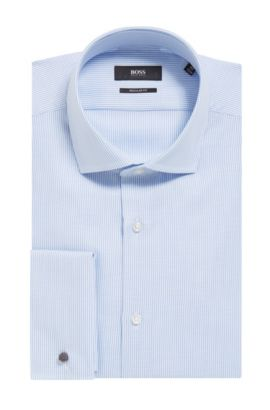 Dobby Cotton Dress Shirt, Regular Fit | Gardner, Light Blue