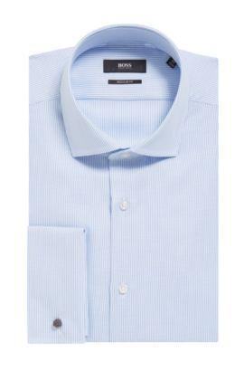 'Gardner' | Regular Fit, Dobby Cotton Dress Shirt, Light Blue