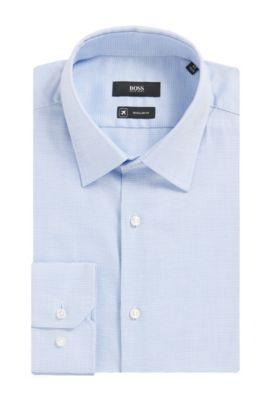 'Enzo' | Regular Fit, Fresh Active Traveler Dress Shirt, Blue