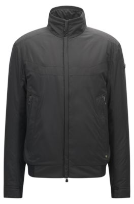 Nylon Bomber Jacket | Jake, Black