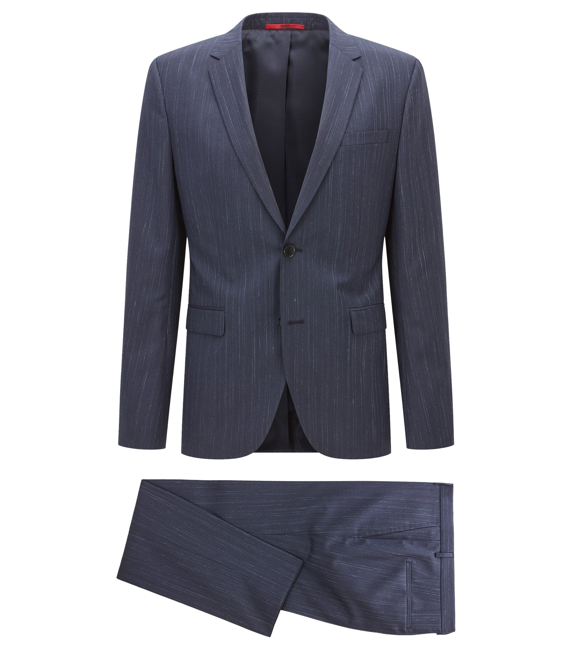 Italian Super 110 Wool Suit, Extra Slim Fit | Astian/Hets, Dark Blue
