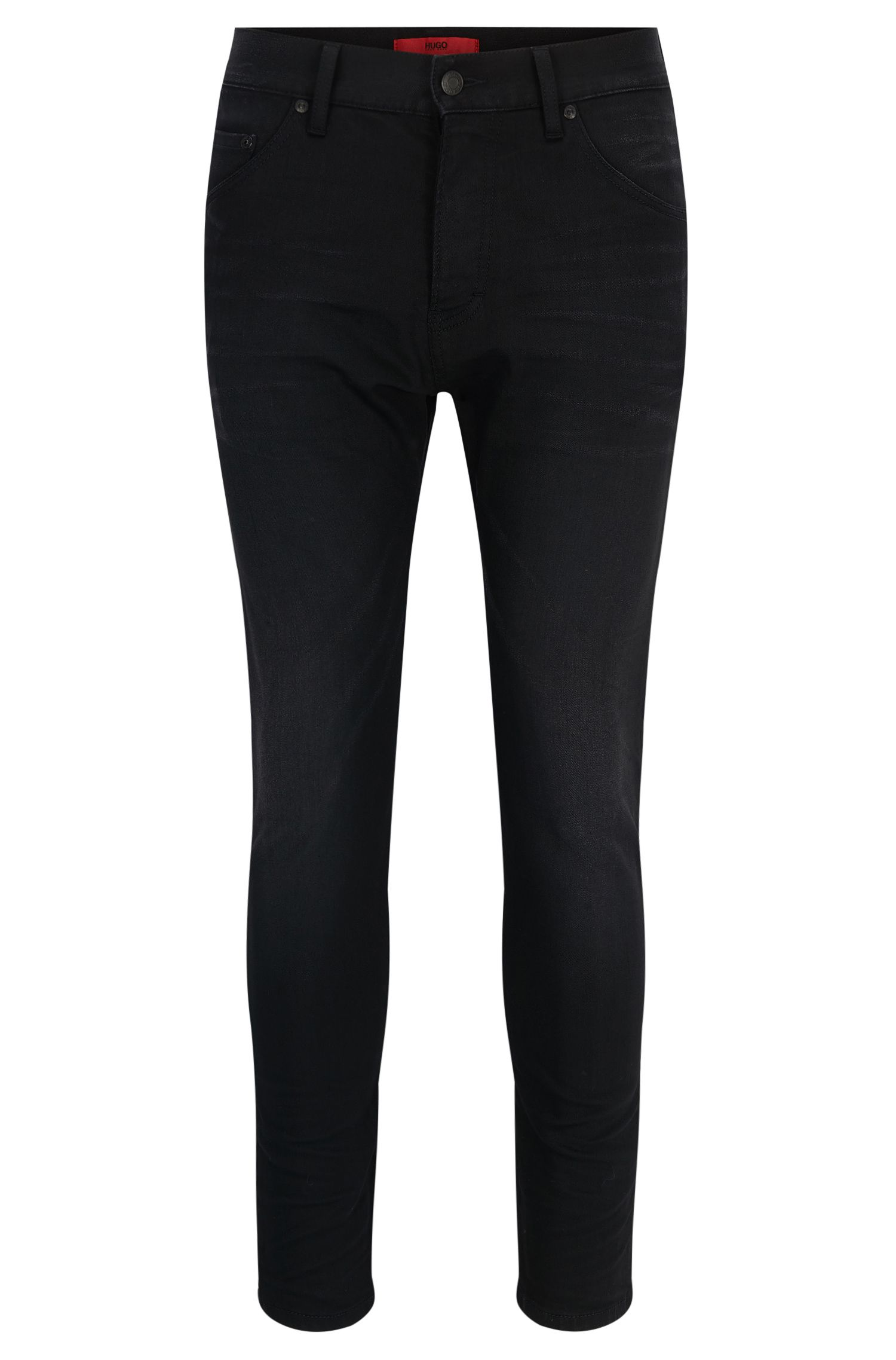 10 oz Stretch Cotton Jeans, Tapered Fit | Hugo 432