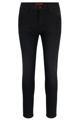 10 oz Stretch Cotton Jeans, Tapered Fit | Hugo 432, Black