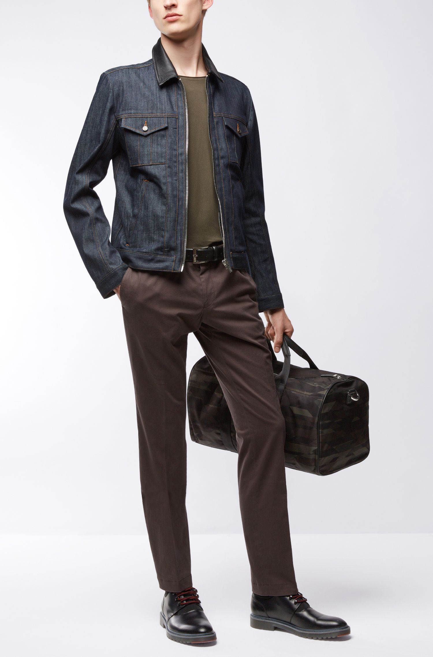 Stretch Cotton Denim Jacket | HUGO 058