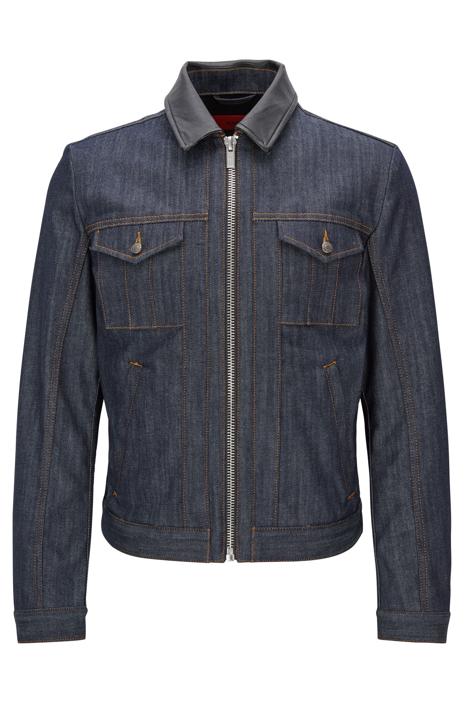 'HUGO 058' | Stretch Cotton Denim Jacket
