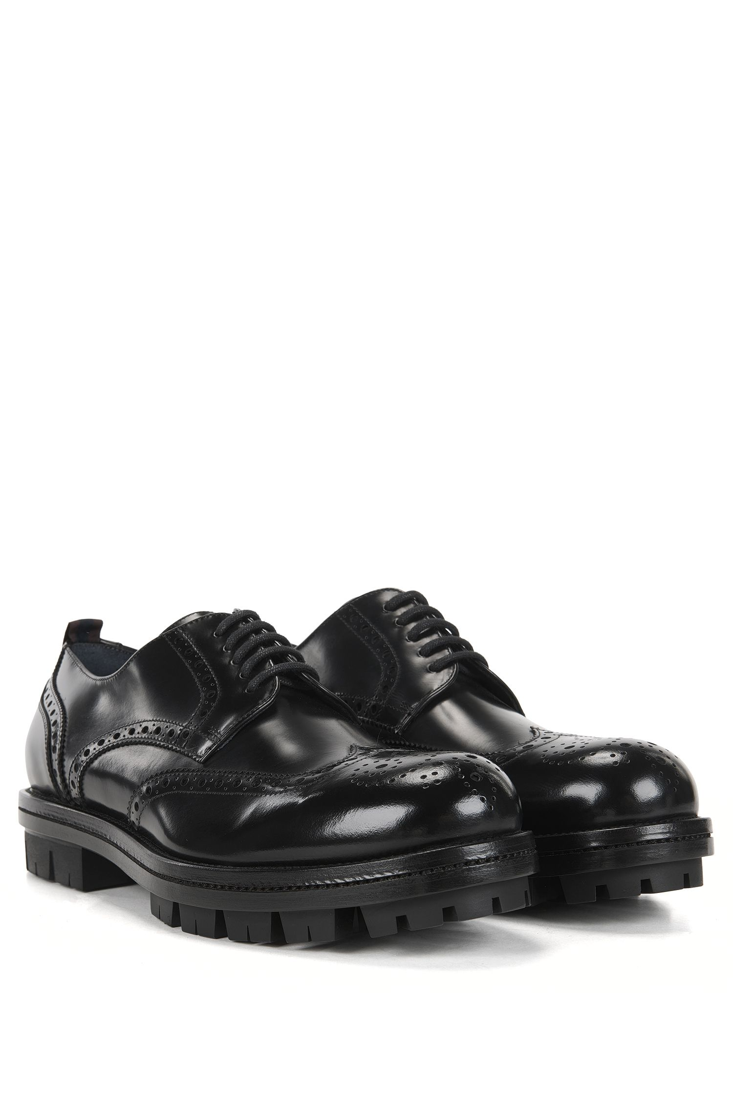 BOSS Hugo Boss Chunky Derby Shoe Twist Derb Wtb 10 Black