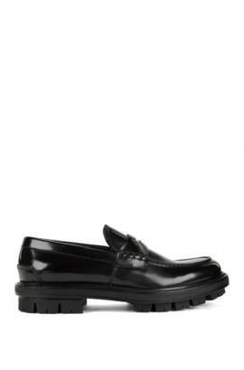 Leather Penny Loafer | Twist Mocc pe, Black