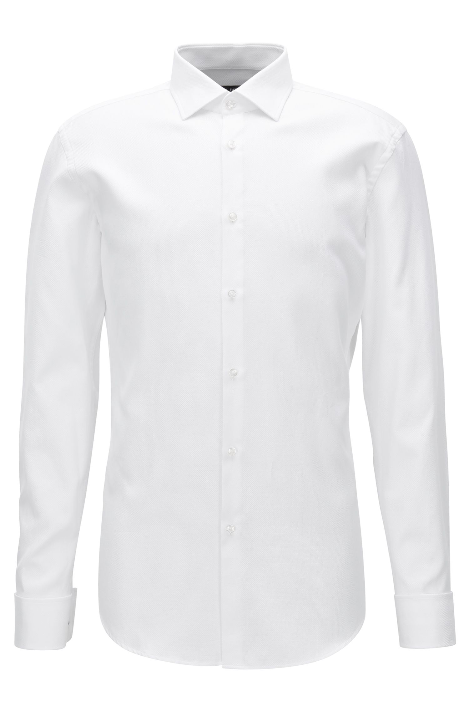 Geometric French Cuff Cotton Dress Shirt, Slim Fit | Jacques