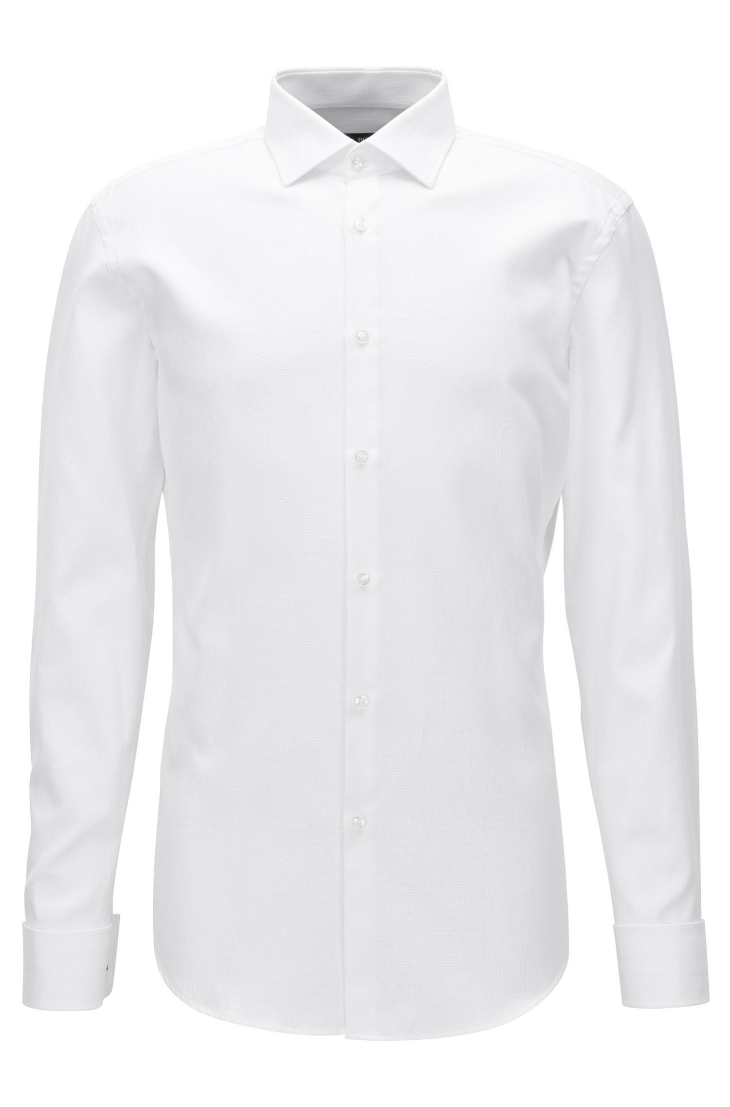 'Jacques' | Slim Fit, Geometric French Cuff Cotton Dress Shirt