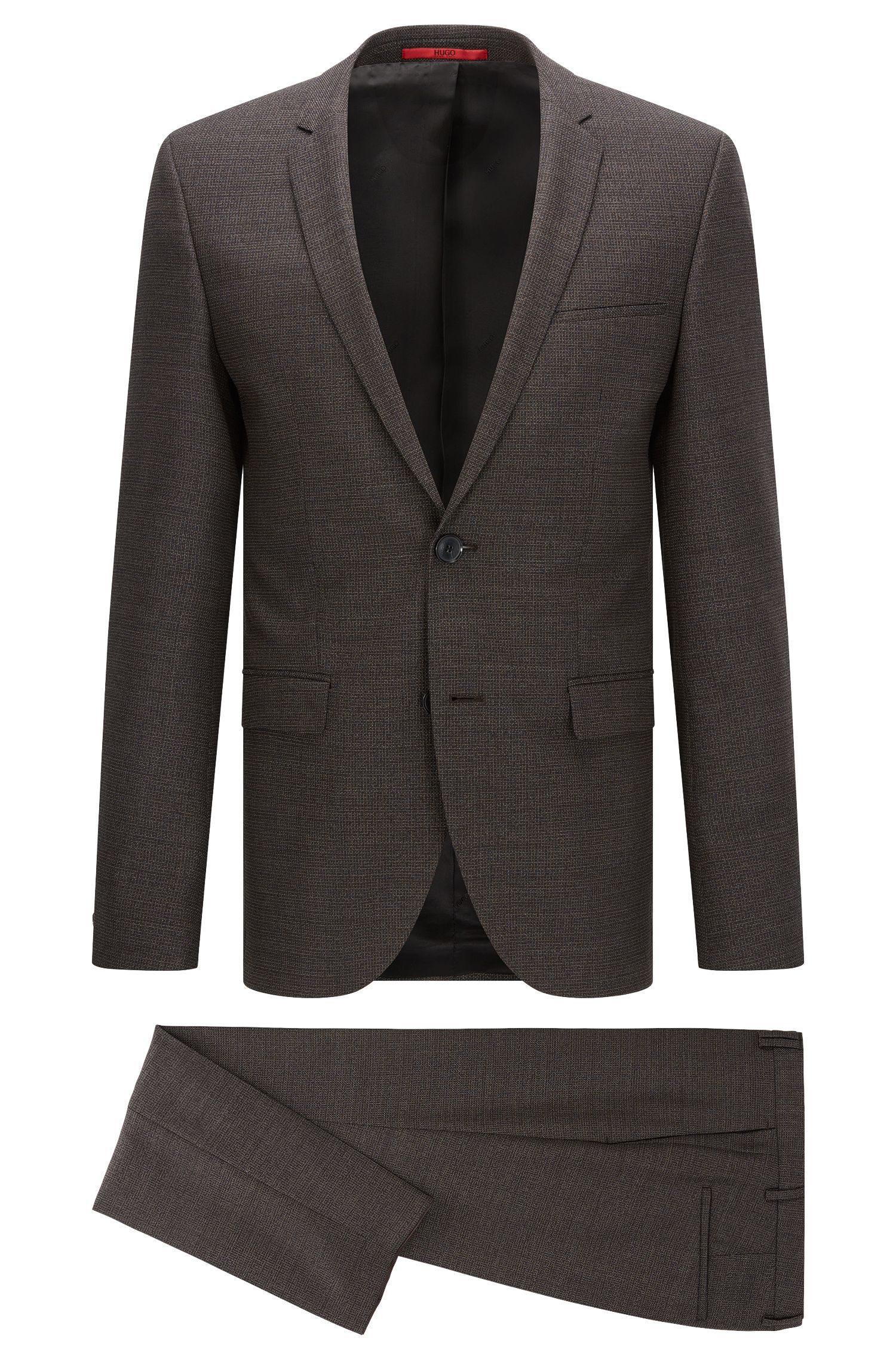Windowpane Virgin Wool Suit, Extra Slim Fit | Adris/Heilon