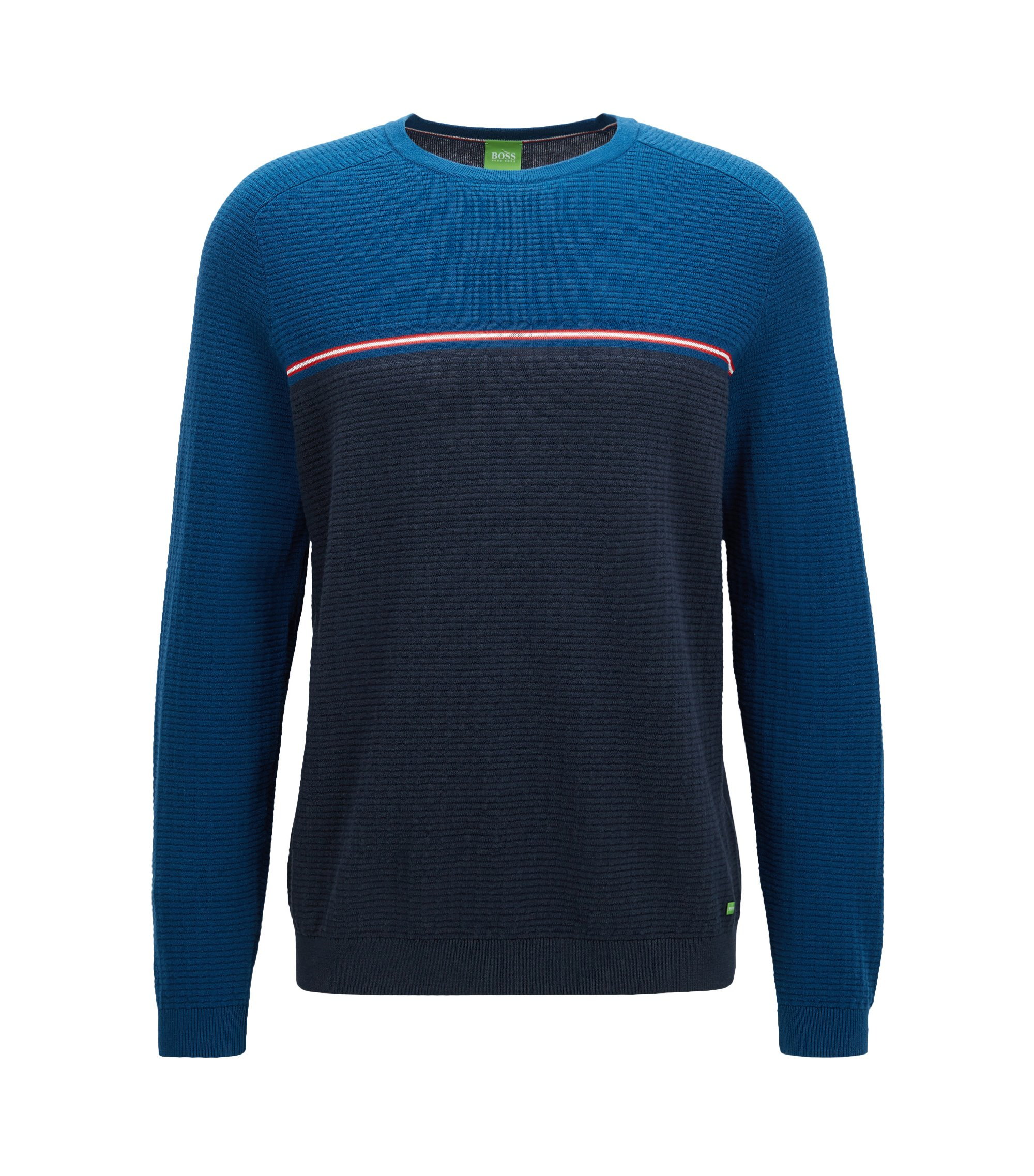 Stretch Cotton Wool Sweater | Rafa, Dark Blue