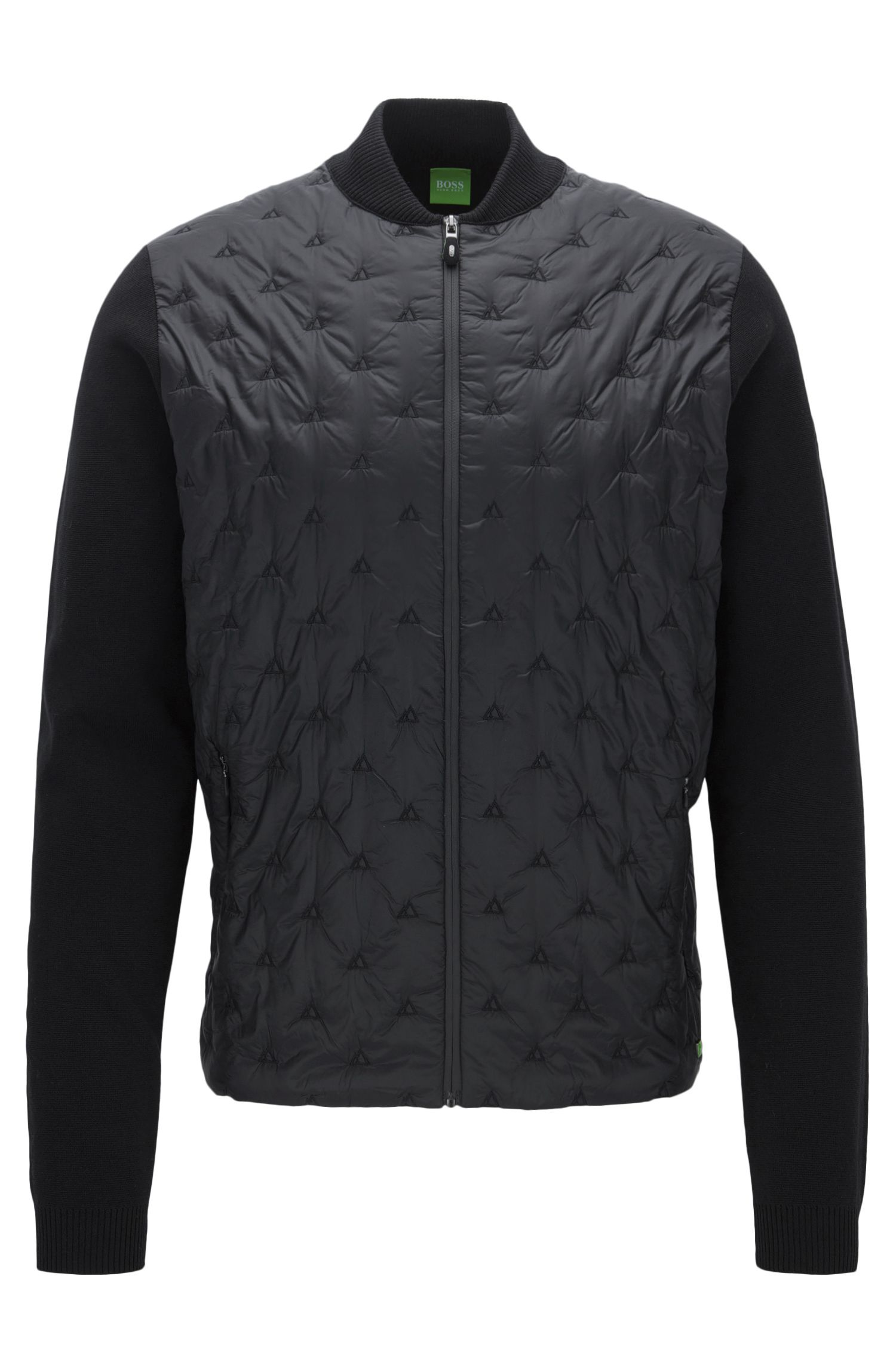 Pintucked Nylon & Cotton Blend Jacket | Zimen