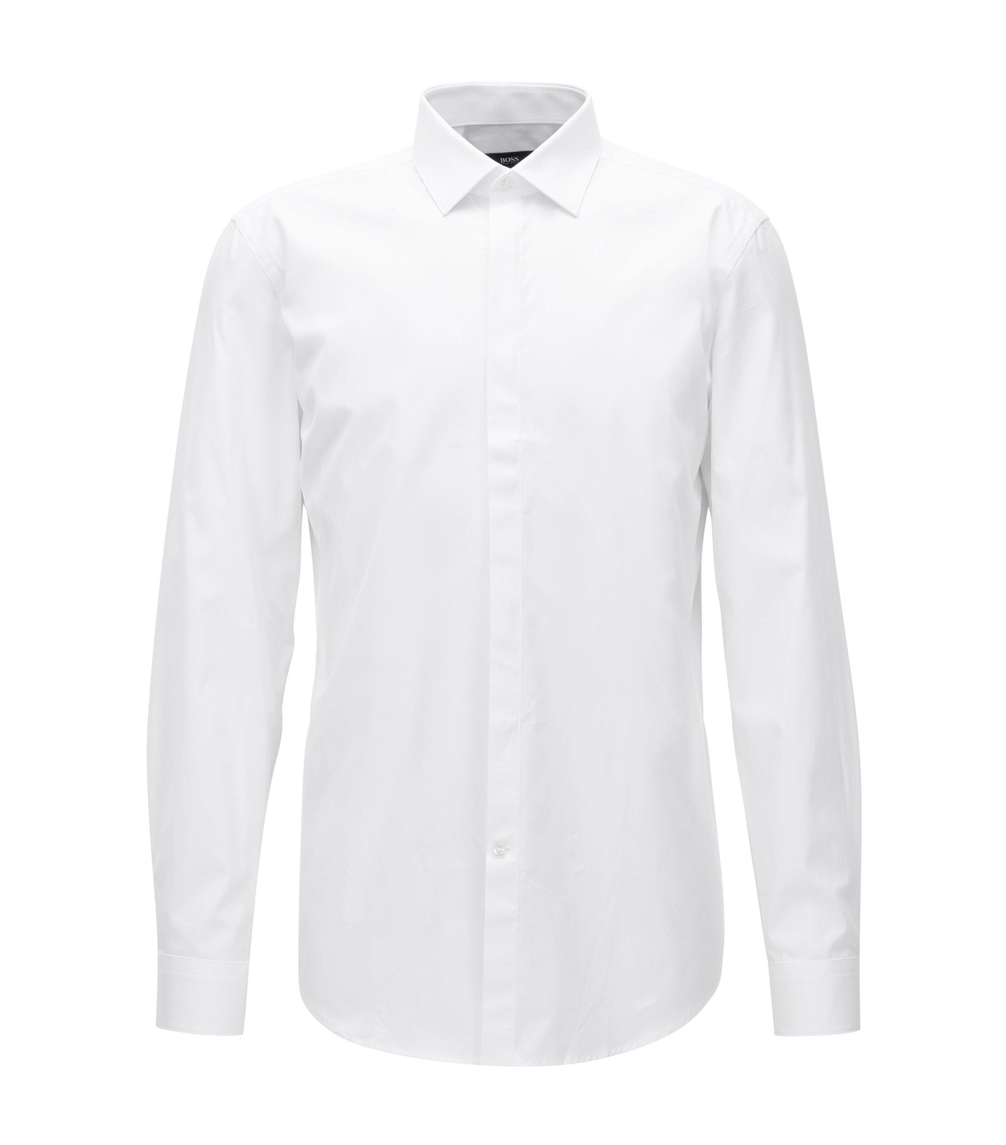 Cotton Dress Shirt, Slim Fit | Jeff, White