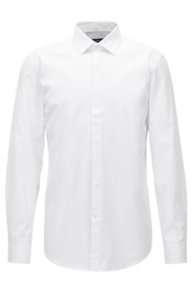 Cotton Dress Shirt, Slim Fit | Jeff, White