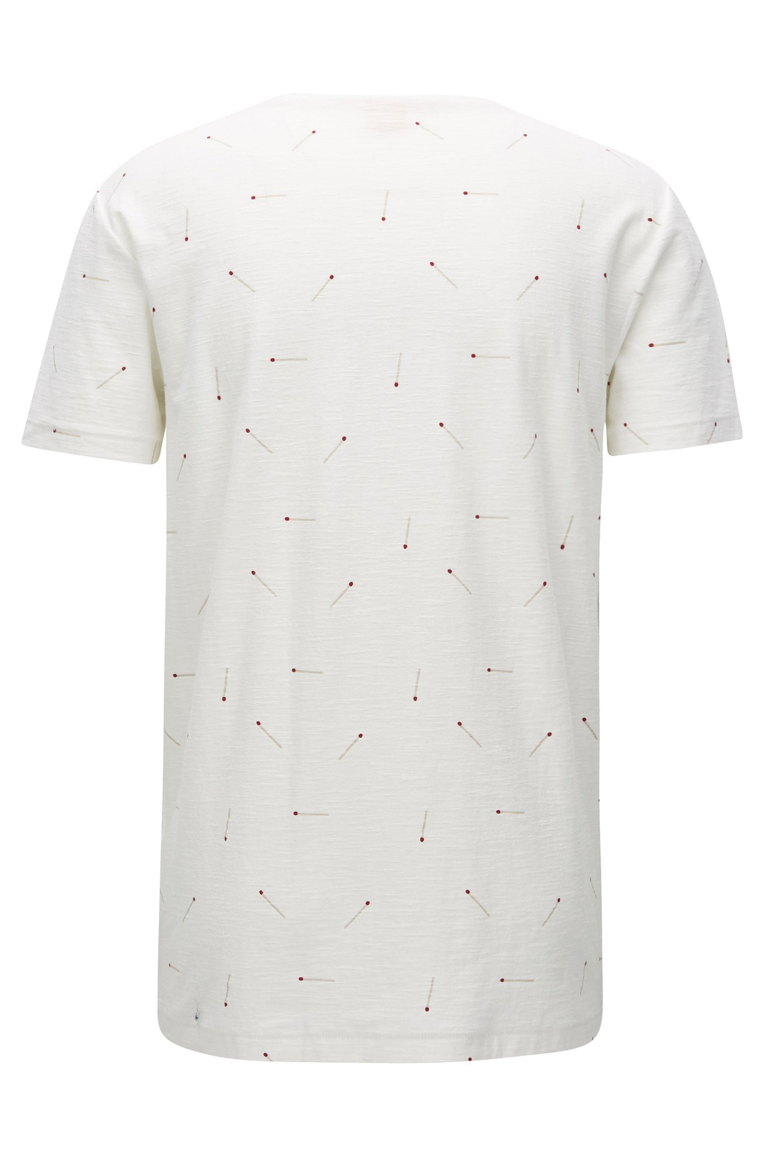 Printed Slub Cotton T-Shirt | Toasty