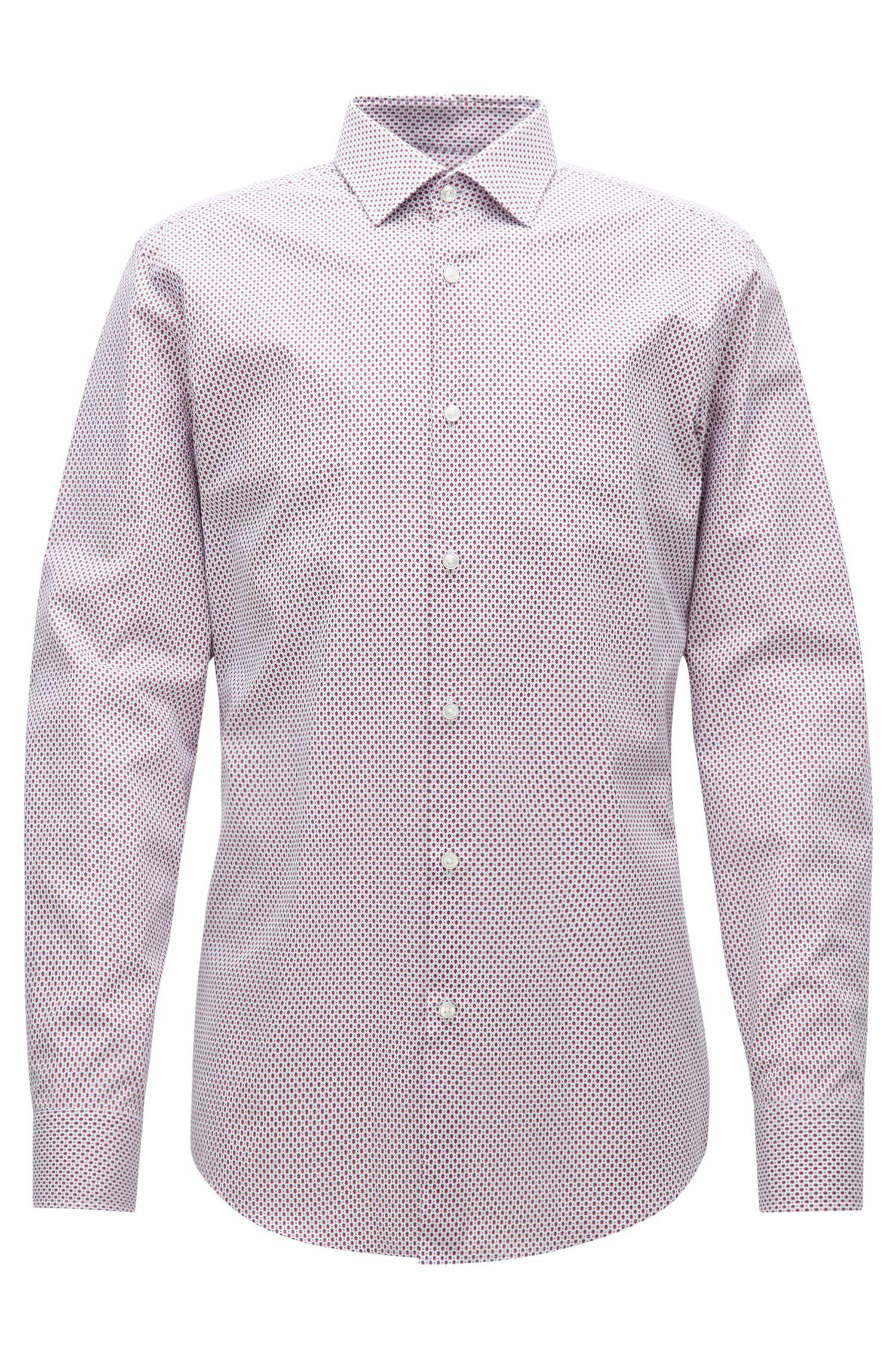 Geometric Cotton Dress Shirt, Slim Fit | Jenno