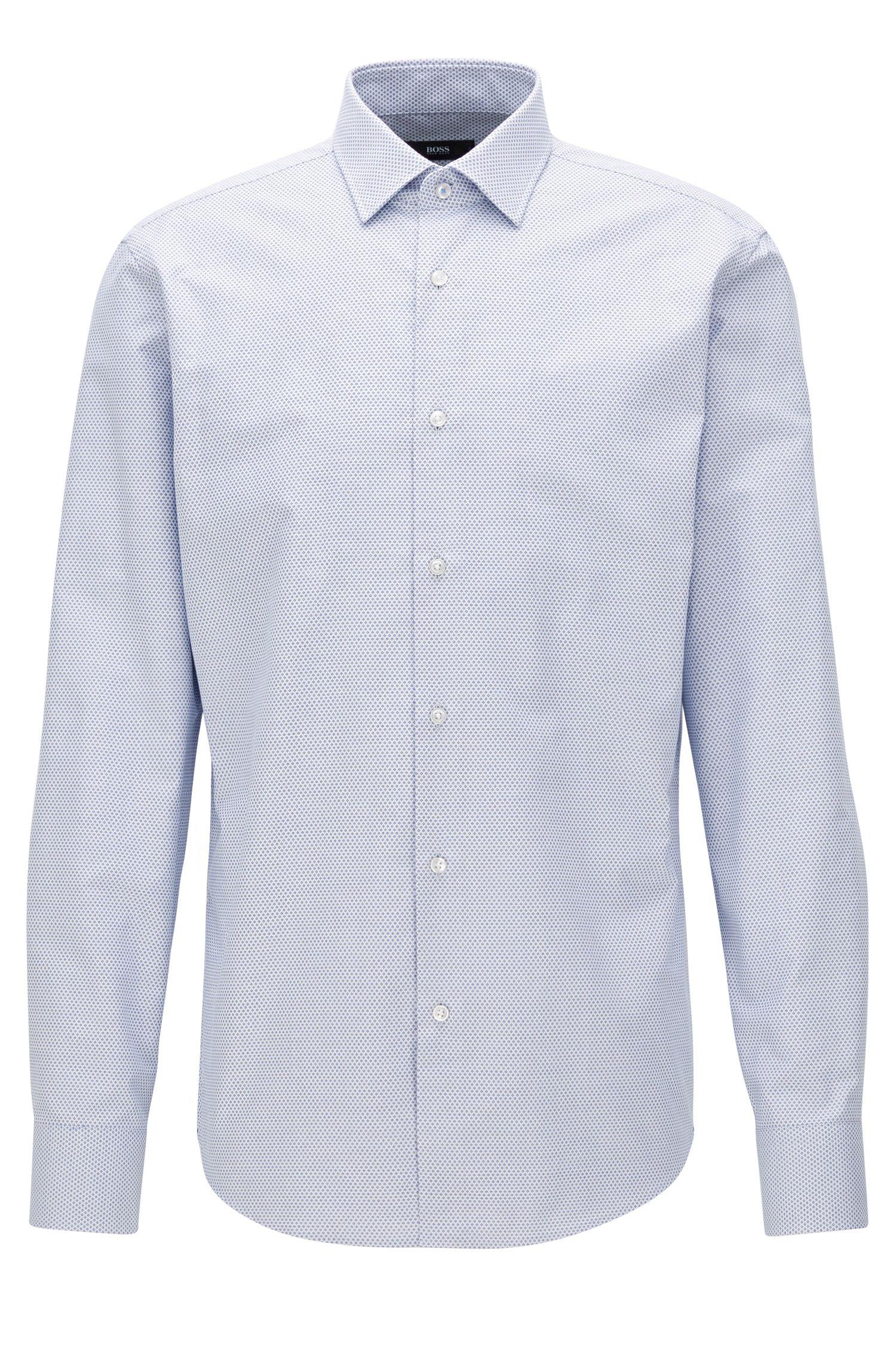 Diamond Print Cotton Dress Shirt, Regular Fit | Gerton