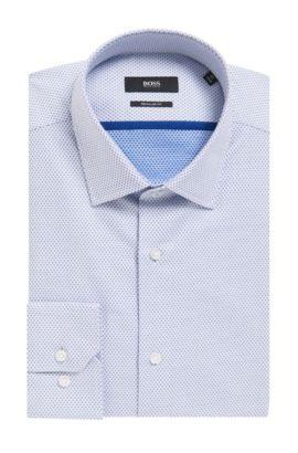 Diamond Print Cotton Dress Shirt, Slim Fit | Gerton, White