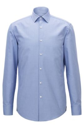 Cotton Dress Shirt, Slim Fit | Jerrin, Light Blue