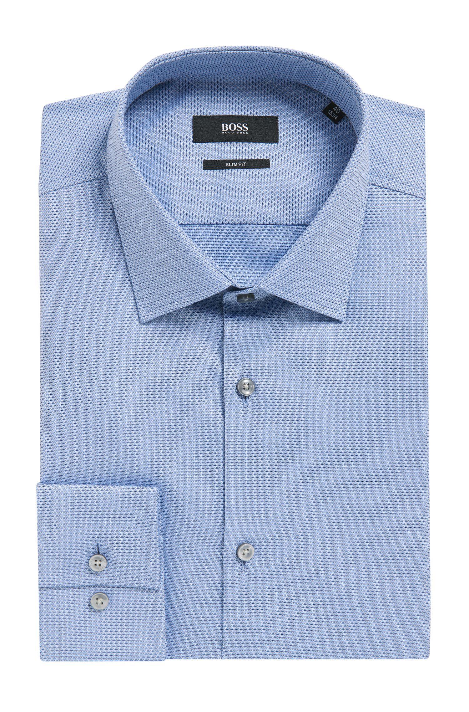 'Jenno'   Slim Fit, Diamond Print Cotton Dress Shirt